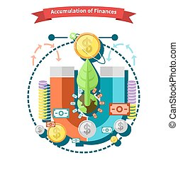 Accumulation of Finances - Accumulation of finances concept...