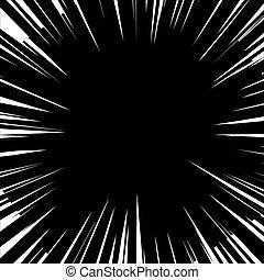 Explosion. Vector illustration.