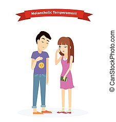 Melancholic Temperament Type People - Melancholic...