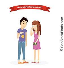 Melancholic Temperament Type People - Melancholic...