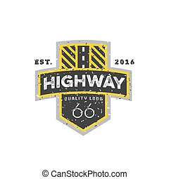 Road sign, Highway 66, high-quality brand-name brand logo...