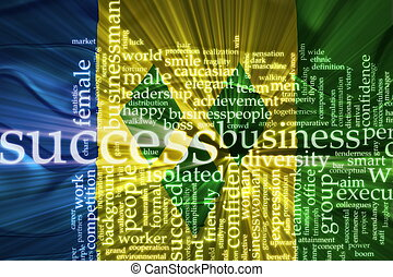 Flag of Saint Vincent and Grenadines wavy success - Flag of...