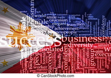 Flag of Philippines wavy success - Flag of Philippines,...