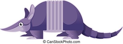 Cartoon purple Armadillo - Vector image of a Cartoon purple...