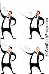 Set of conductors - Vector image of a Set of conductors