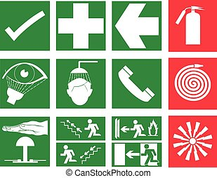 Rescue and emergency Sign and Fire safety sign - Rescue and...