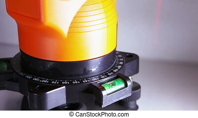 The laser measurement level for construction works