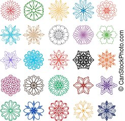 vector set of blossom