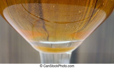 Champagne being poured into glasse