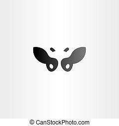 black cow vector logo icon design farm