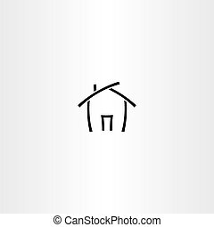black icon house vector home symbol