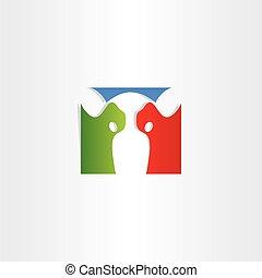 colorful cow logo vector icon design