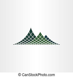dotted mountain vector icon
