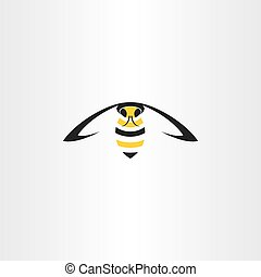 flying wasp vector icon insect