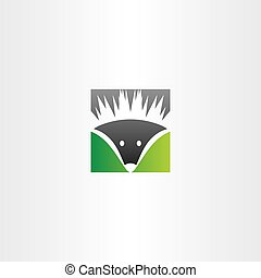 hedgehog vector logo icon