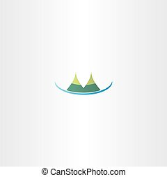 mountain hills vector icon