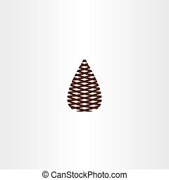 pinecone vector icon symbol design
