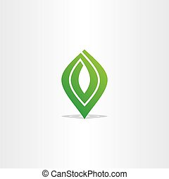 spiral green leaf logo vector abstract business icon