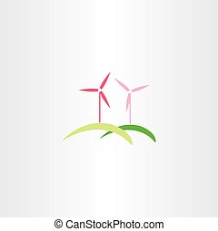 wind turbine vector icon logo symbol