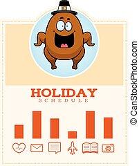 Cartoon Thanksgiving Turkey Graphic