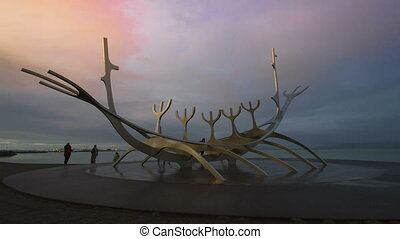 Timelapse of Sun Voyager, Iceland - Timelapse of the Sun...