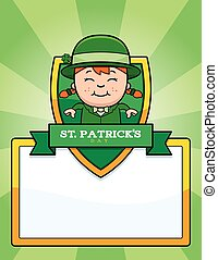 Cartoon Leprechaun Girl Graphic - A cartoon illustration of...