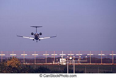 Landing - Plane bevor landing in muenster