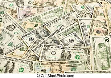 cash - dollars background, see other financial images in my...