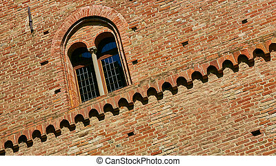 Old castle of Grinzane Cavour in Piedmont, northern Italy