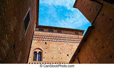 Old castle of Grinzane Cavour in Piedmont, northern Italy.