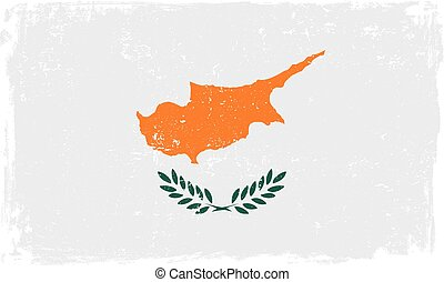 cyprus flag vectoreps - Cyprus vector grunge flag isolated...