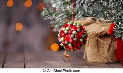 Christmas tree decorations - Close up footage of a Christmas...