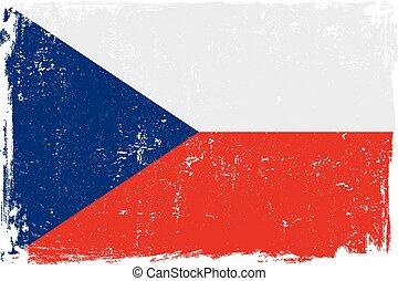 czech republic flag vectoreps - Czech Republic vector grunge...