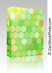 Paint splotches box package - Software package box Paint...