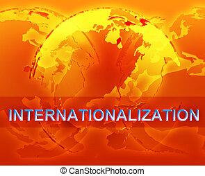 Internationalization globalization illustration