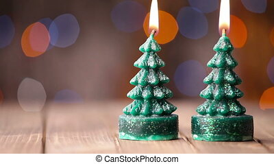 Candle light, romantic background for New Year, Christmas