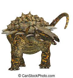 Gargoyleosaurus on White - Gargoyleosaurus was an ankylosaur...