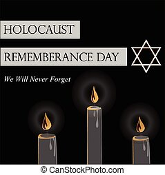 Holocaust Remembrance Day Vector illustration for Jewish Yom...