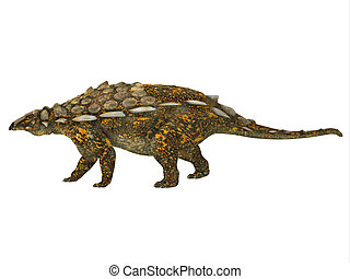 Gargoyleosaurus Side Profile - Gargoyleosaurus was an...