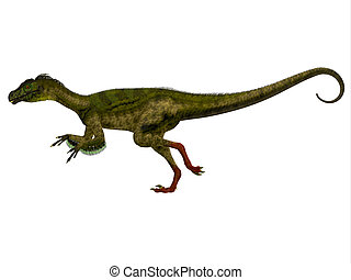 Ornitholestes Side Profile - Ornitholestes was a small...