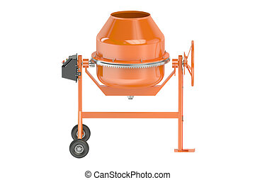 Small Cement Mixer isolated on white background
