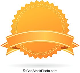 Gold vector medal isolated on white background