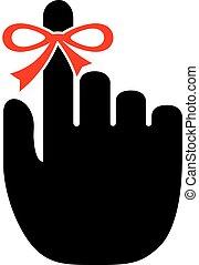 Reminder finger icon isolated on white background