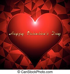 Valentines day background vector illustration