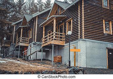 Log ski cottages