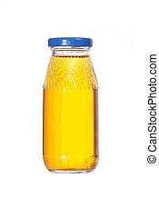small glass bottle with juice