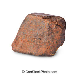 piece of iron ore isolated on white background
