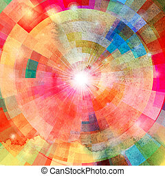 Abstract colorful background with sun - bright multicolored...