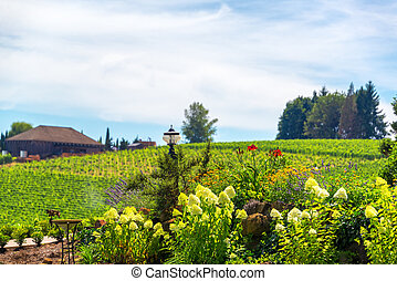 Flowers in Oregon Wine Country - Flowers in Oregon wine...