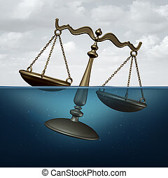 Legal Trouble - Legal trouble concept or justice problems...